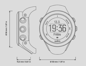 Tamaño reloj Ambit 3