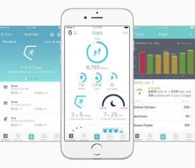 smartphone app fitbit