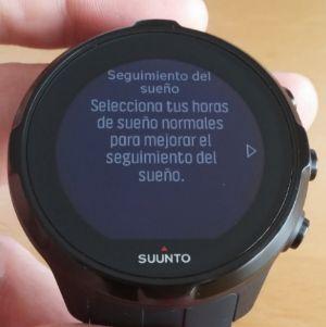 Reloj Suunto Spartan Sport Wrist HR registro sueño