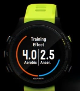 Función training effect forerunner 935