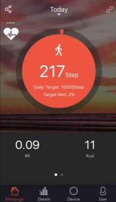 Aplicación veryfit para smartphone