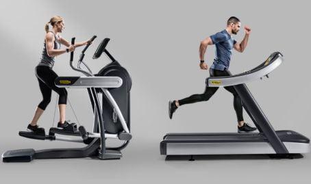 Maquina de eliptica y cinta de correr estatica