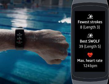 Smartband para nadar Gear Fit 2 Pro