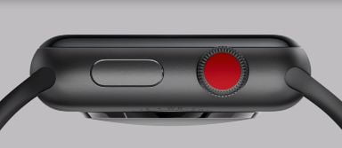 Apple Watch Series 3 con punto rojo