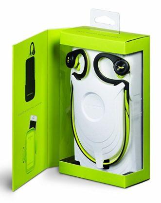 Contenido caja auriculares para running plantronics back beat fit