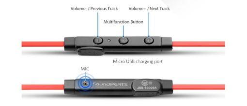 Mando auriculares para running soundpeats q12