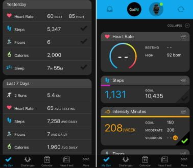 App Garmin Connect para vivomove hr
