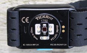 Detalle sensor óptico wahoo ticker fit
