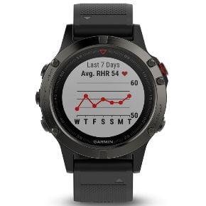 Pulsómetro para triatlón Garmin Fénix 5
