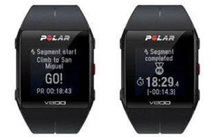Reloj Polar V800 con Strava segmentos