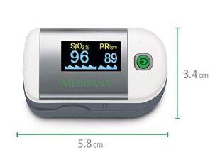 Medisana PM 100 medidos oxígeno en sangre y pulsaciones