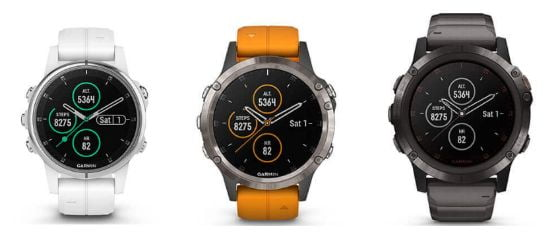 garmin fenix 5 plus todas las versiones