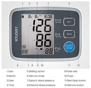 Medidor presión arterial hylogy