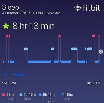 monitorización sueño con reloj versa 2