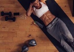 ejercicios de abdominales en casa