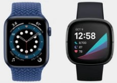 comparativa entre fitbit sense y reloj apple