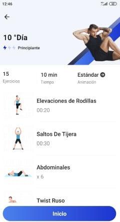 como hacer abdominales en casa con una app